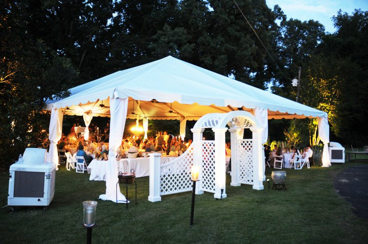 Outdoor Tent with Collonade