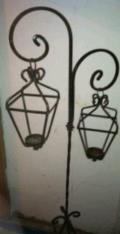 Rental store for WROUGHT IRON 2 LANTERN CANDEL in Batesville MS