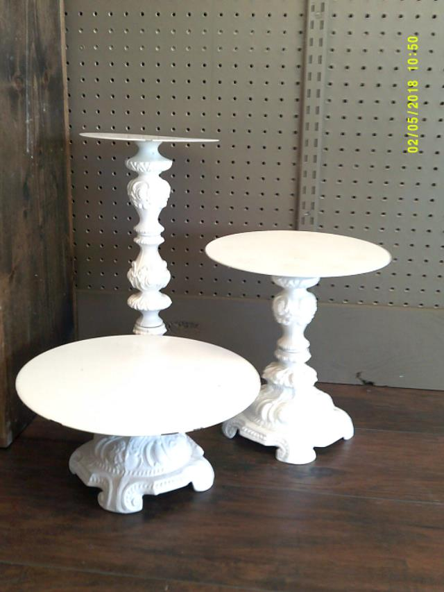 Where to find ORNATE CAKE STANDS - 3 PC. in Batesville