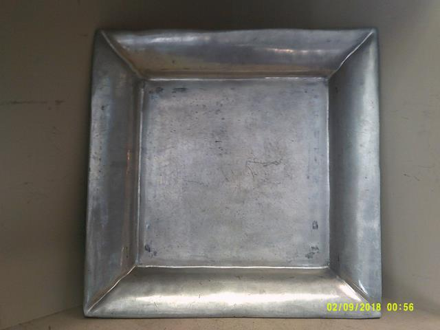 Pewter Square Serving Tray 20 Inch