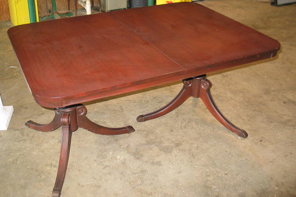 Where to find 5  WALNUT 2 PEDESTAL TABLE in Batesville