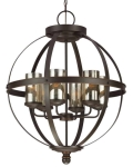 Rental store for BROWN WROUGHT IRON - SPHERE - 6 LIGHT in Batesville MS