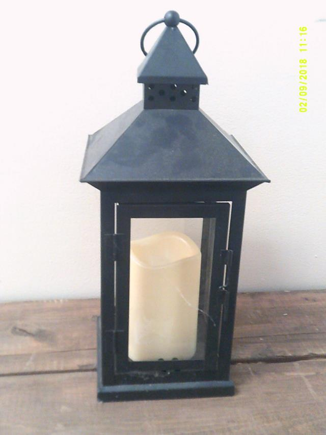 Where to find BLACK LANTERN - WROUGHT IRON - BATTERY in Batesville