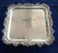 Rental store for SILVER SERVING TRAY 15X21 SQUARE in Batesville MS